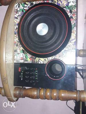 6month old, brand name F&D 5.1,5 speaker, black