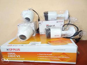 CP Plus and Hikvision CCTV 1MP 720p 4 camera installation