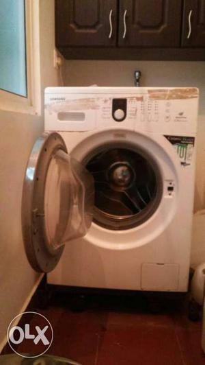 White Front Load Washing Machine