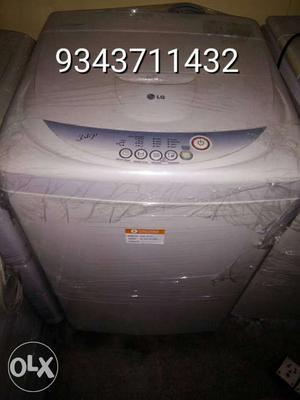White Lg Top Load Washing Machine