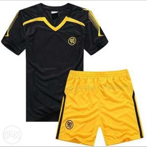 Black And Yellow Jersey Shirt And Yellow Short