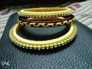 Brown and Gold colored bangle