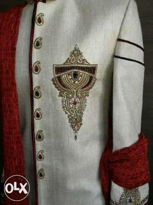 Designer groom shervani from Raju India