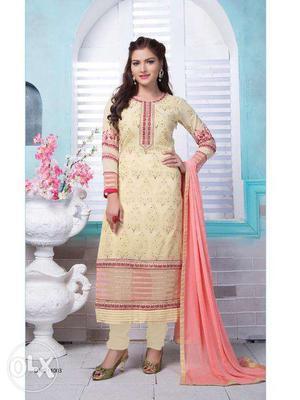 Party wear designer straight salwar kamiz
