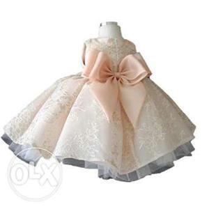 Princess Flower Wedding Dress for Baby Girls
