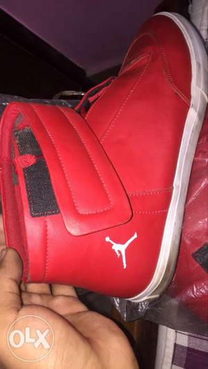 Red And Black Air Jordan Basketball Shoes