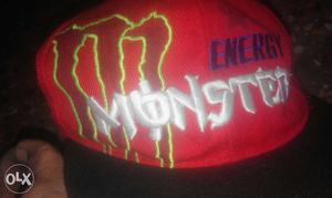 Red Monster Energy Fitted Cap