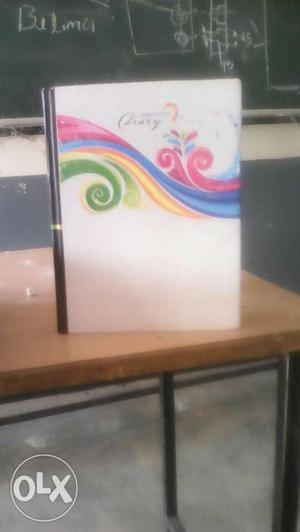 White Pink Blue And Green Floral Book