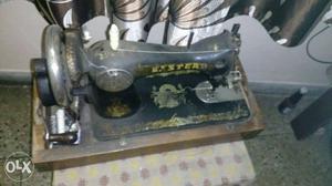 Black And Yellow Sewing Machine
