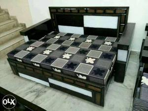 Brown Wooden Daybed