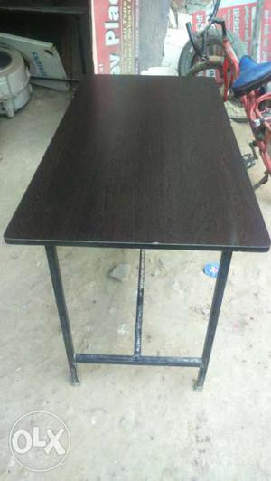Gray And Brown Wooden Rectangular Table