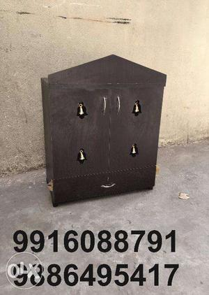 Pooja cabinet wooden made 2x2feet wooden made only at
