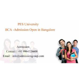9964326600 ♥ PES University MCA Admission Bangalore ♥