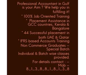 Come as a fresher & be a Professional Accountant once you co