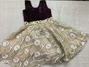 Girls party wear dress(new one)