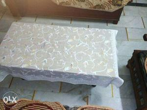 White Floral Table Cloth