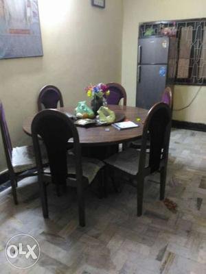 Wooden Table And Chairs Set Of 6