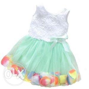 Designer Net Floral Wedding Dress for Girls