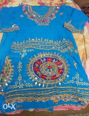 New Sharara suit latest fashion, heavy embroidery