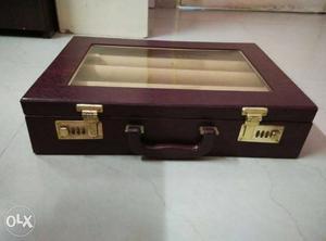 Brown Rectangular Suitcase Bangle box