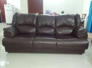 Chocolate Brown Sofa set (3+1+1)