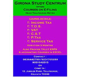 E-filing Courses (Opposite Tollygunge Metro station)
