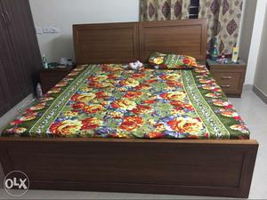 Pure teak wood, 6 months old bed, extra storage,