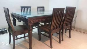Pure teak wood antique dining table. 5.5 ft long,