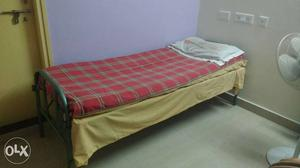 Steel Single Cot with Mattress