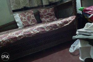 Wodden cane sofa