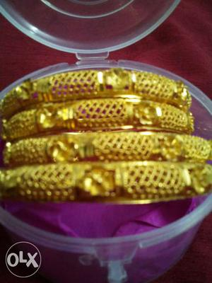 4 bangles in  rs 1 gram gold on each bangle