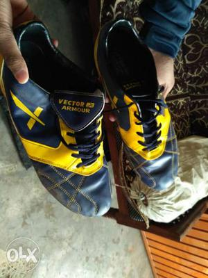 Black And Yellow Vector Armour Shoes