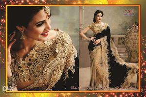 Deisgner Party Wear Saree at Just Rs.  !!