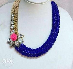 Kundan and beads set. Beads colour can b
