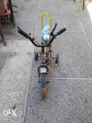 Kid's Black And Yellow Training Bike