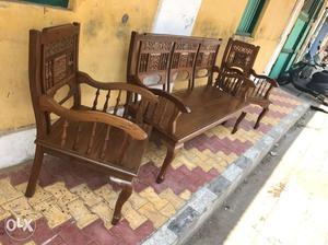 Teak Wood Sofa Set Furniture
