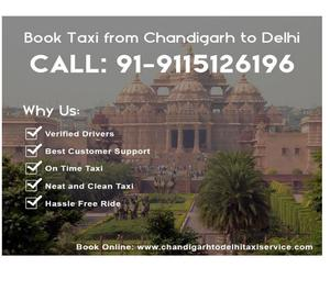 Book Taxi Service From Chandigarh to Delhi AIRPORT RS