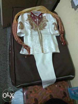 Boy child indo western style suit...used and dry