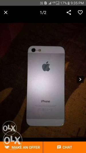 I phone 5 16 gb used good condition single handed