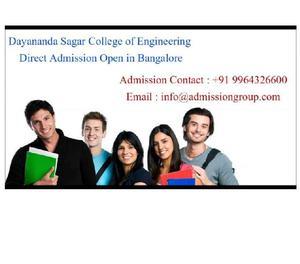9964326600 >Dayananda Sagar College of Engineering admission