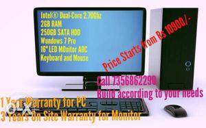 Brand New Intel Dual-Core Desktop PC with Full
