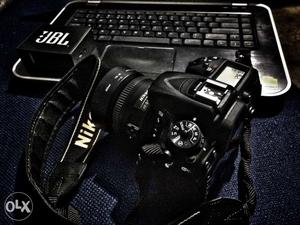 Nikon d dslr camera with 35mm f1.8 prime lens