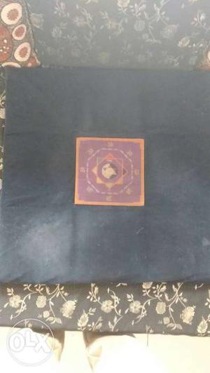 Meditation Seat Size: 2' × 2' Navy blue seat very cozy.