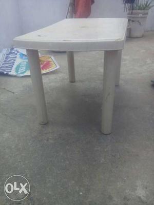White Plastic Table