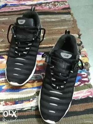 Black-and-white Air Jordan Basketball Shoes