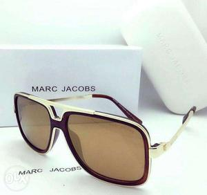 Brown And Silver Framed Brown Lens Marc Jacobs Sunglasses