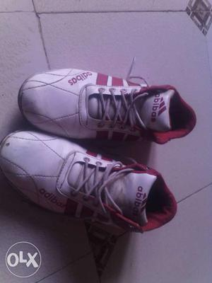 Gray And Red Adidas Basketball Shoes