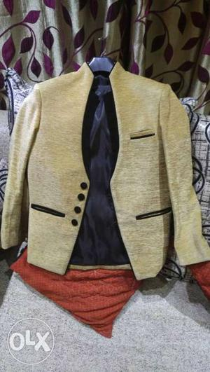 Kids designer blazer jacket, velvet touch, used only one