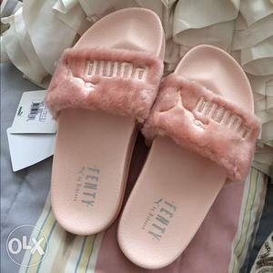 Puma Fenty Slides, Sizes Available, Pink Colour