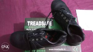 Treadsafe Black Safety Shoes With Box